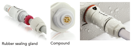 Waterproof connectors for portable home care